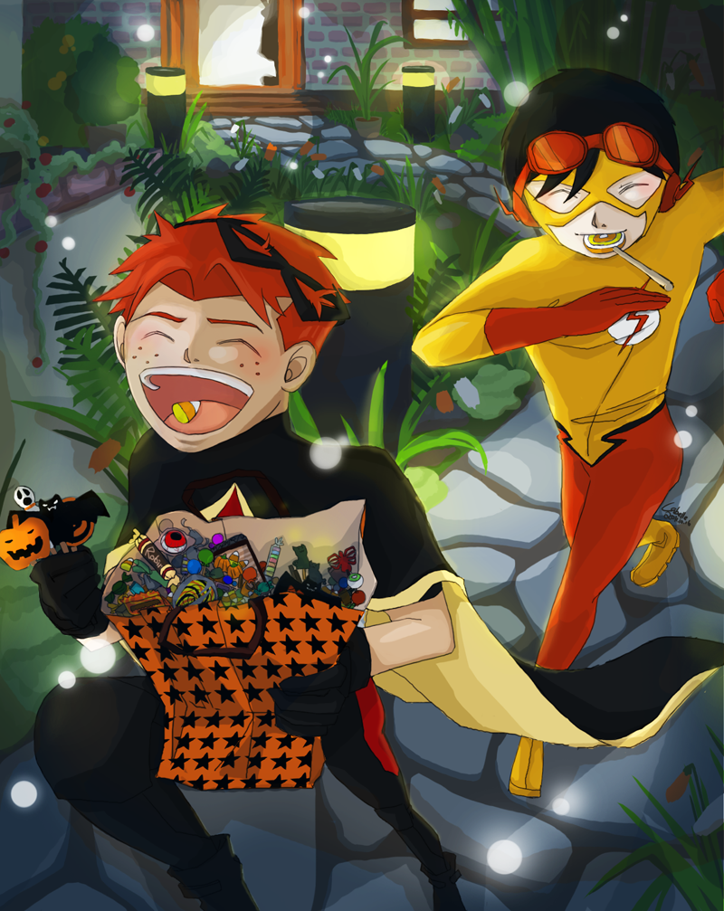 YJ - Robin KF Happy Halloween by char0118