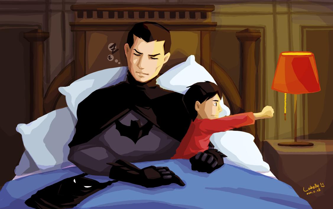 YJ - Robin Batman bedtime by char0118