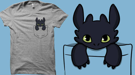 Pocket Dragon Tee ON SALE AGAIN FOR ONE WEEK by mzza-art