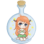 [gift]: Fairy in a Bottle by mzza-art