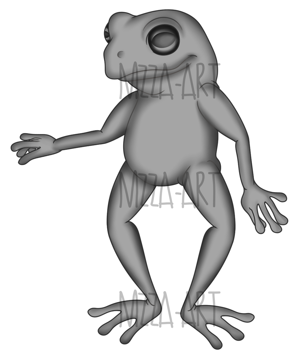 free to use frog paintie base by mzza art on deviantart