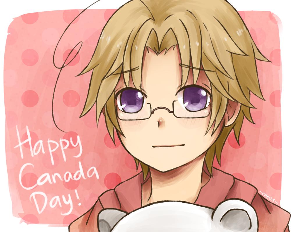 [Hetalia] Happy Canada Day! by caeths