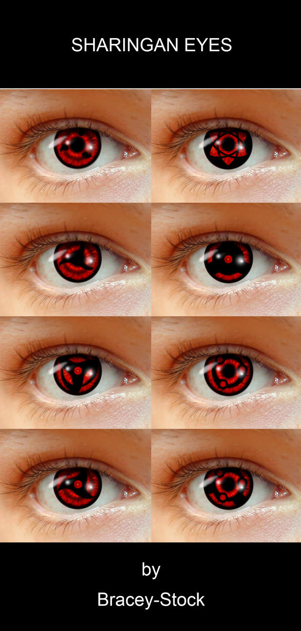 Naruto Sharingan Eyes Sharingan Eyes by Bracey100