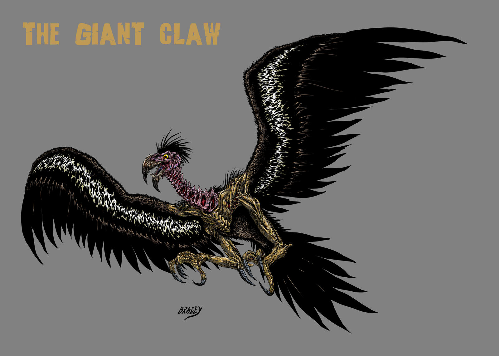 Kaiju Revamp - The Giant Claw by Bracey100