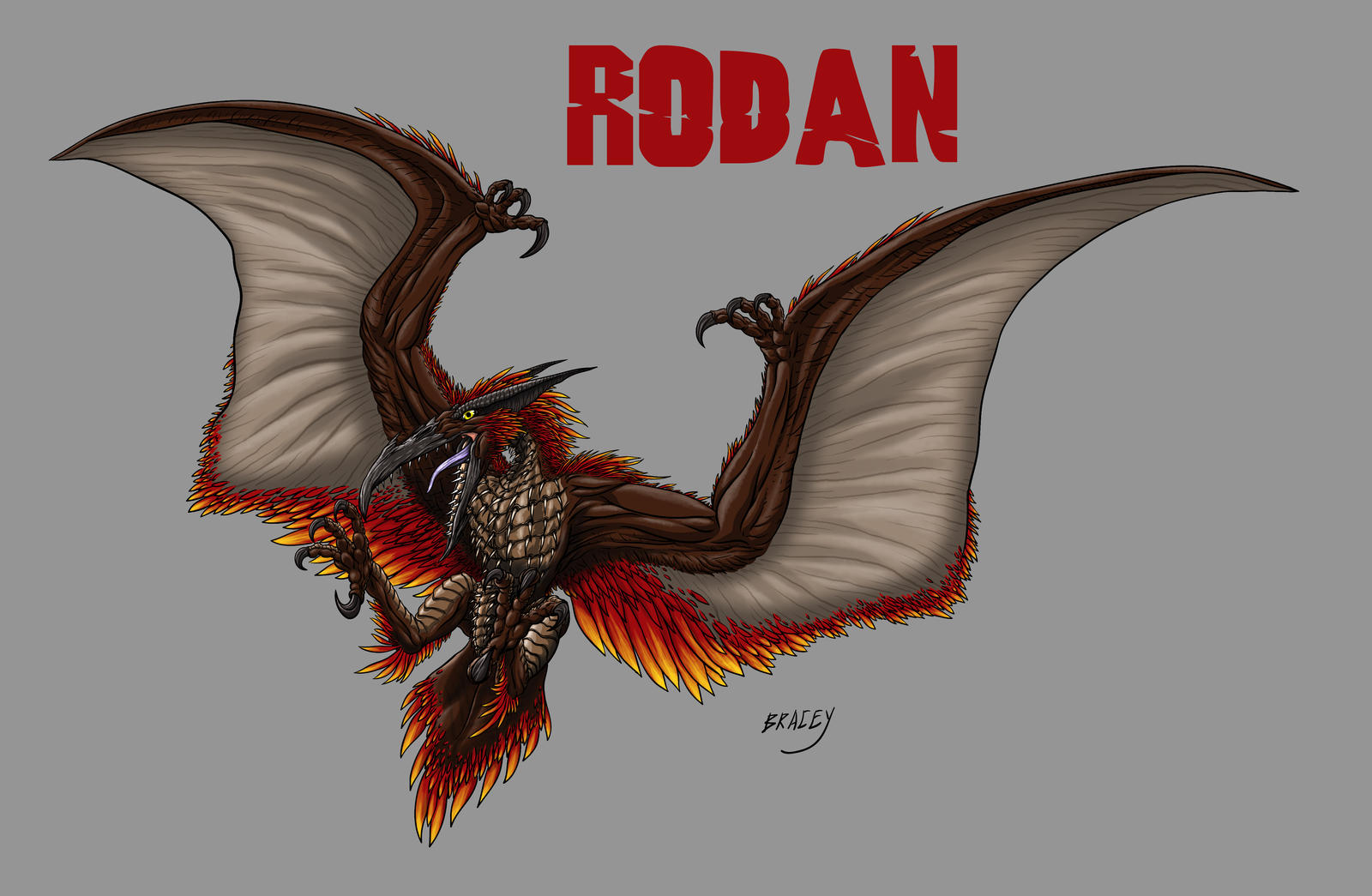 Kaiju Revamp - Rodan by Bracey100 on DeviantArt