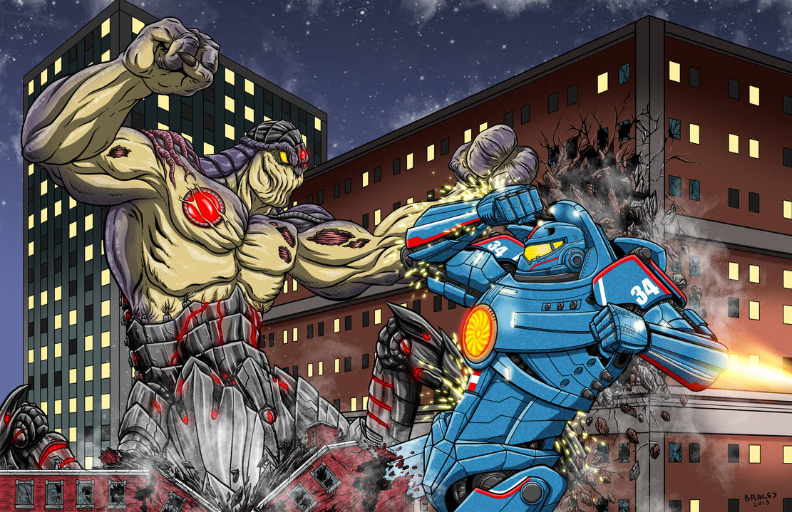 Kaiju Commissions - Exterminus vs Gipsy Danger by ...