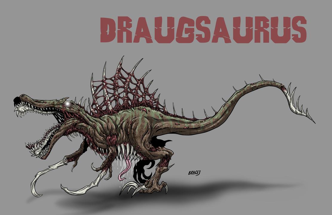 Kaiju Commissions - Draugsaurus by Bracey100