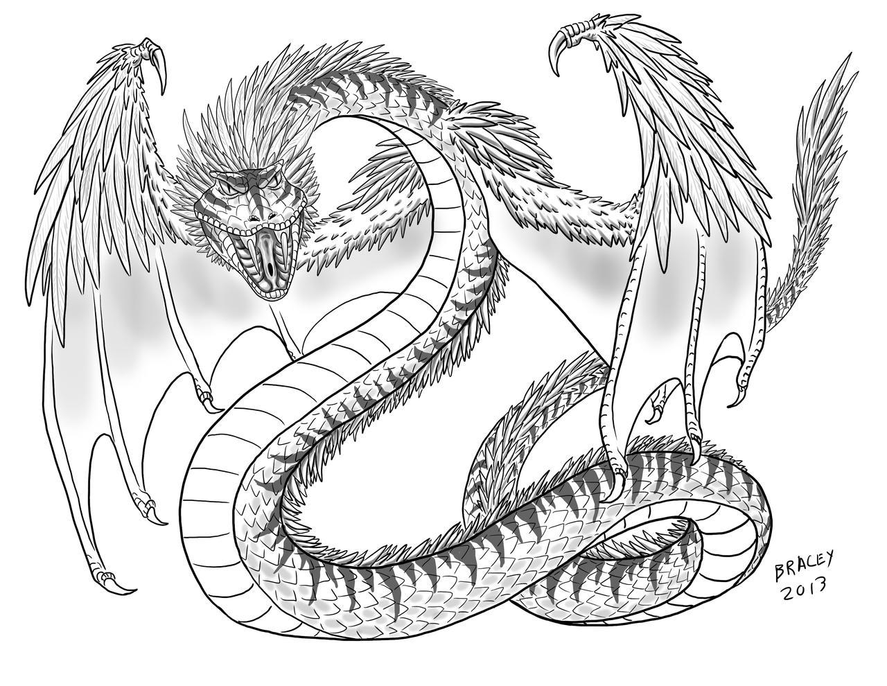 Kaiju Commissions - Quetzalcoatl by Bracey100 on DeviantArt