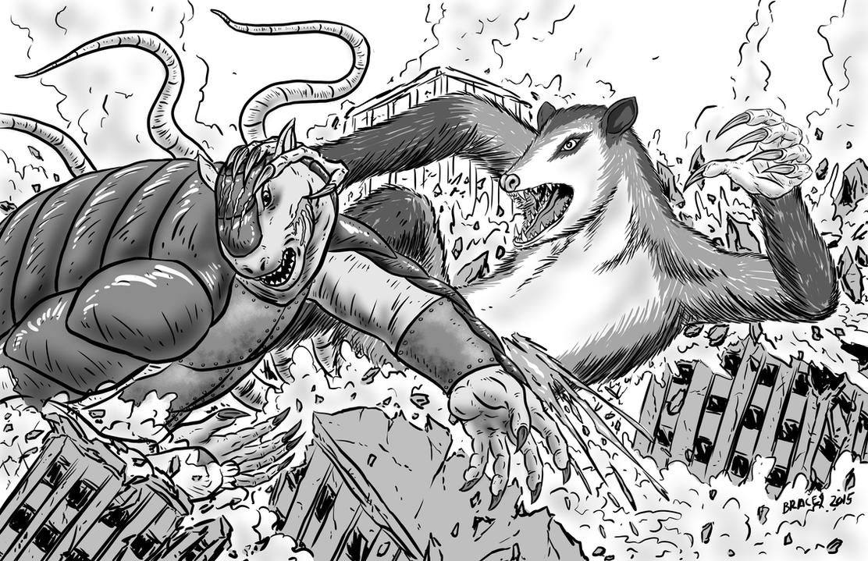 Kaiju Commission: Amanda vs Missi by Bracey100