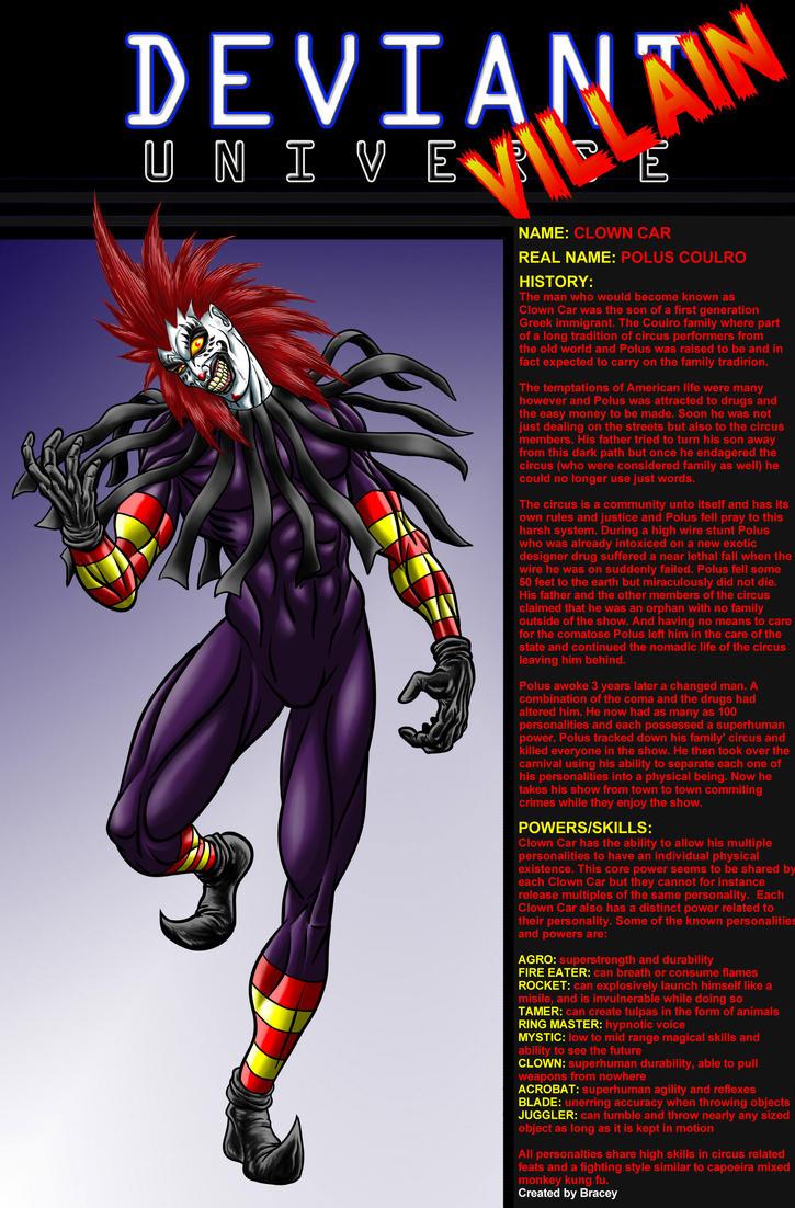 Deviant Universe - Clown Car by Bracey100