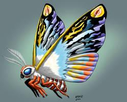 Kaiju Commissions - Mothra Leo by Bracey100