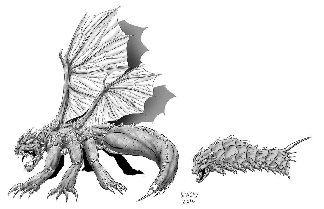 Kaiju Commissions - Midnight by Bracey100