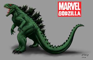 Kaiju Revamp - Marvel Godzilla by Bracey100