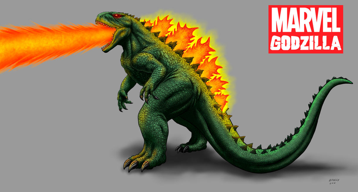 Kaiju Revamp - Marvel Godzilla - fire version by Bracey100