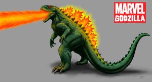 Kaiju Revamp - Marvel Godzilla - fire version by Bracey100