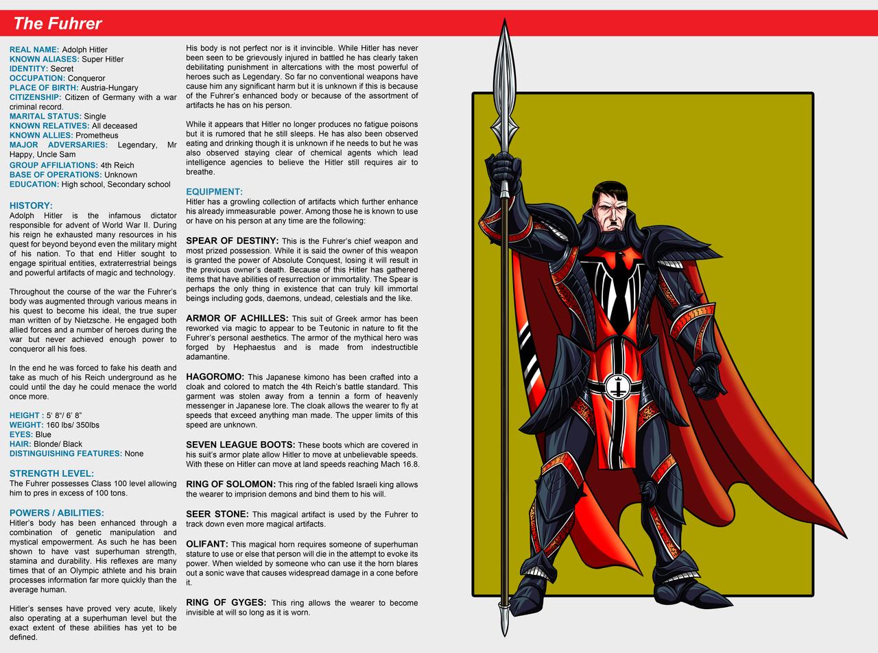 Southern Comics Handbook: The Fuhrer by Bracey100
