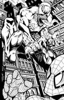 Me inking RAM's Venom by Bracey100