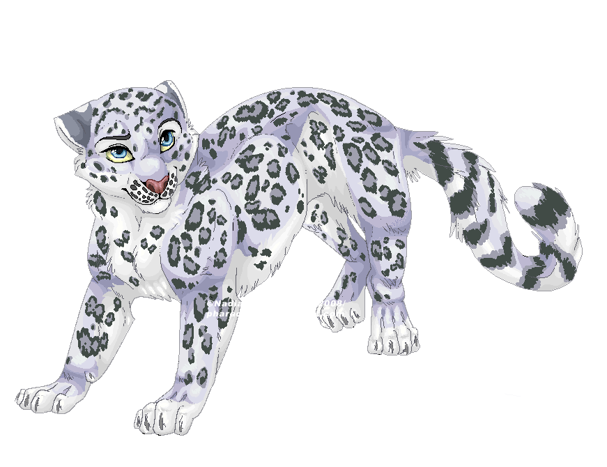 Cartoon snow leopard - photo#2