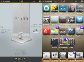 my new iphone 4s lock- und Homescreen