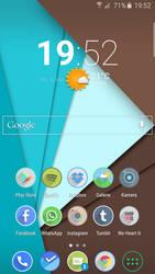 My Galaxy s6 Edge Homescreen