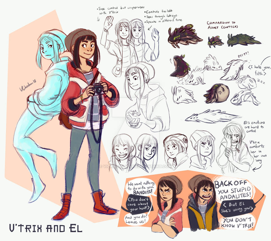 Animorphs Sheet - V'trix and El by vickie-believe