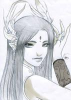 Anja portrait nb by Flfleur