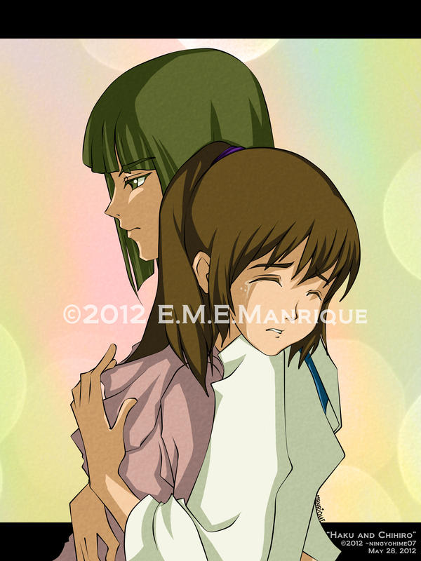 Haku and Chihiro by ningyohime07