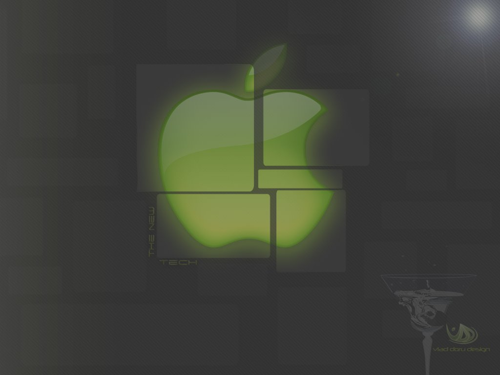 Futuristic Apple Wallpaper by vladutzu24