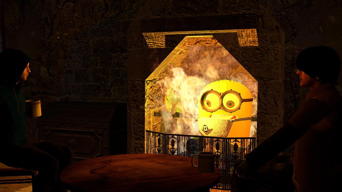 Gmod: Minions by the fire by Minimole