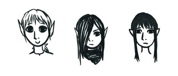 Chibi heads by Ka-Thea