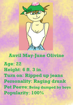 Anvil May-June Olivine Trading Card