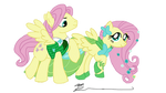Fluttershy and Butterscotch at the Gala