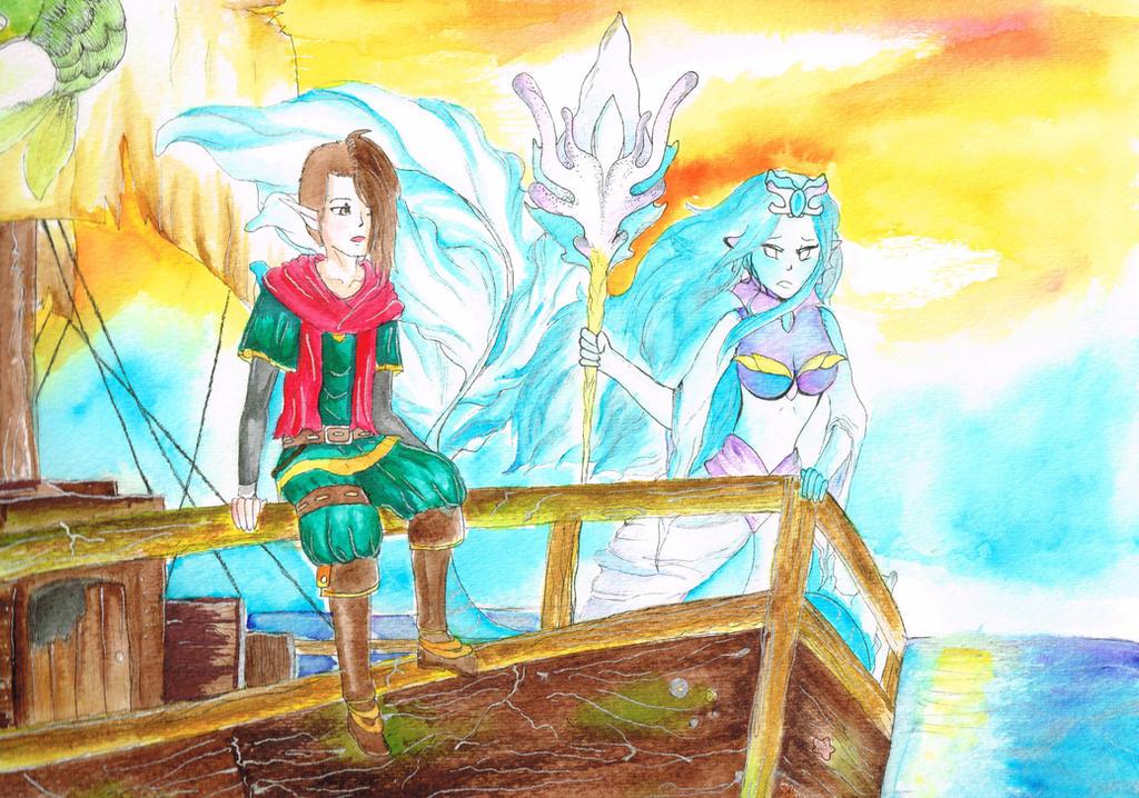 World of Esras - Aquaria and Curuel by Bog-Bogi