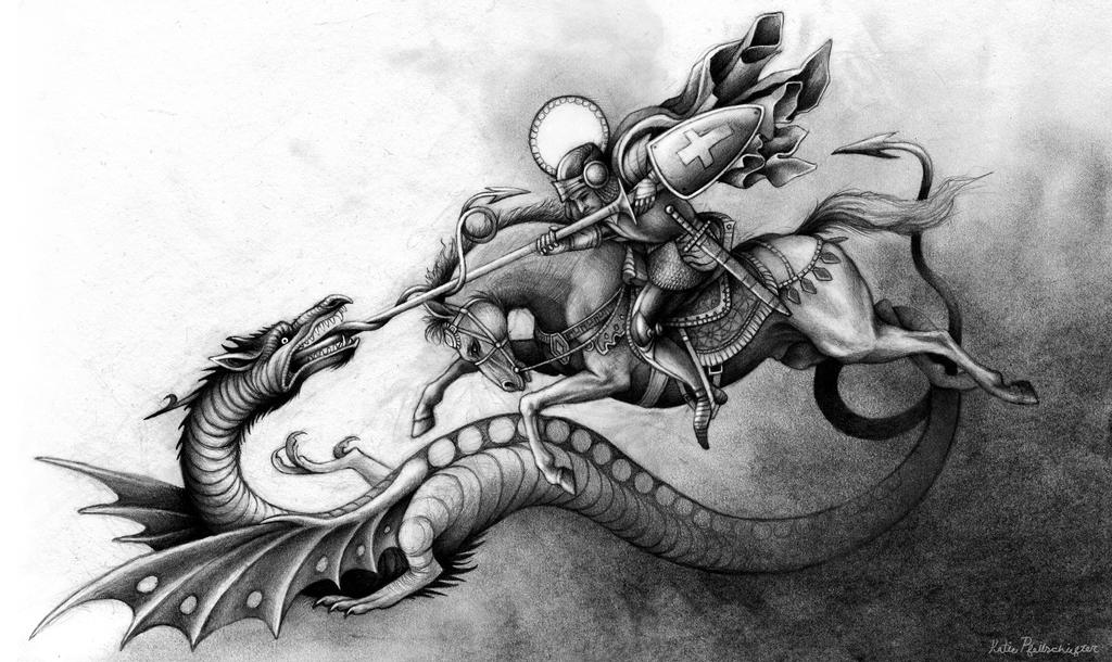 St george and the dragon by katepfeilschiefter on deviantart for Tattoo shops in st george