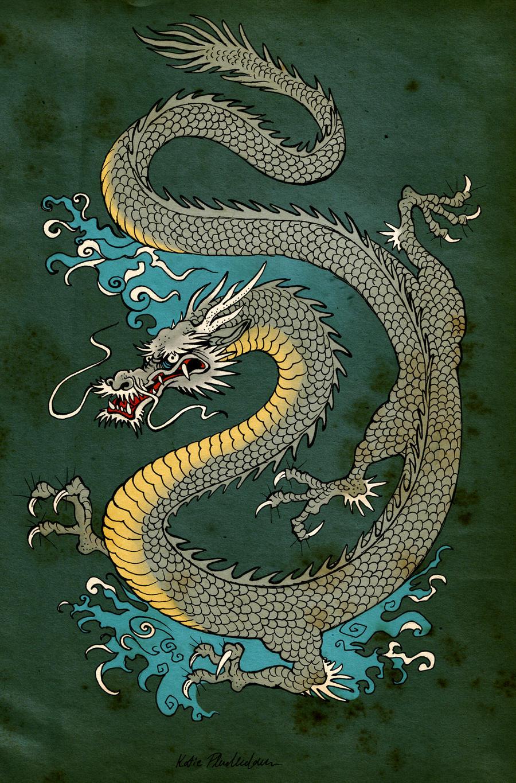 Japanese Dragon By Katepfeilschiefter Japanese Dragon By Katepfeilschiefter