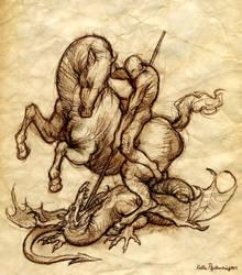 St. George Sketch by KatePfeilschiefter