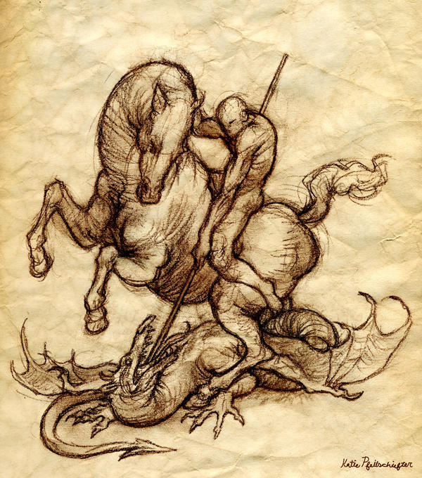 St george sketch by katepfeilschiefter on deviantart for Tattoo shops in st george