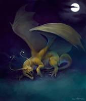 Wild Dragonite Appeared by KatePfeilschiefter