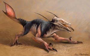 Caecuraptor by KatePfeilschiefter
