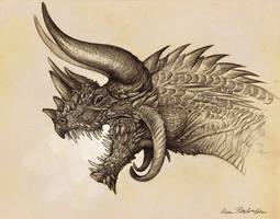 Rhinoceros Dragon by KatePfeilschiefter