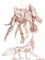 Critter Sketches#2 by KatePfeilschiefter