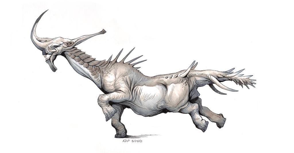 Long Necked Behemoth by KatePfeilschiefter