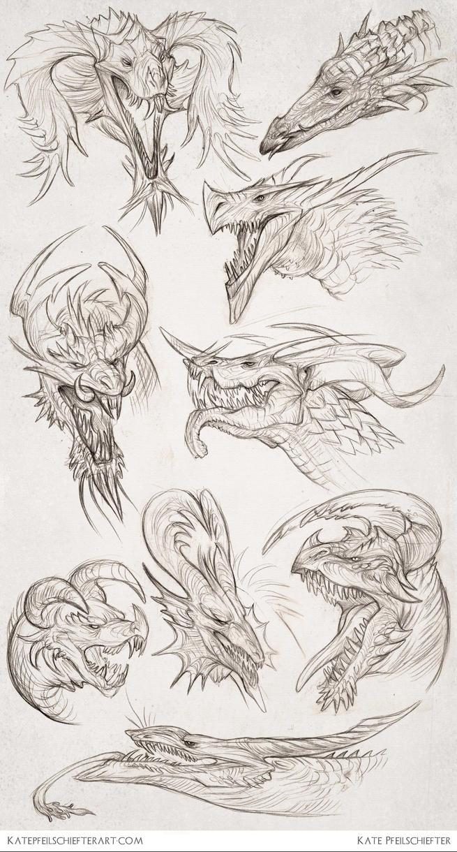 Daily Dragons by KatePfeilschiefter on DeviantArt