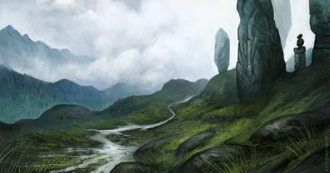 Misty Hills by KatePfeilschiefter