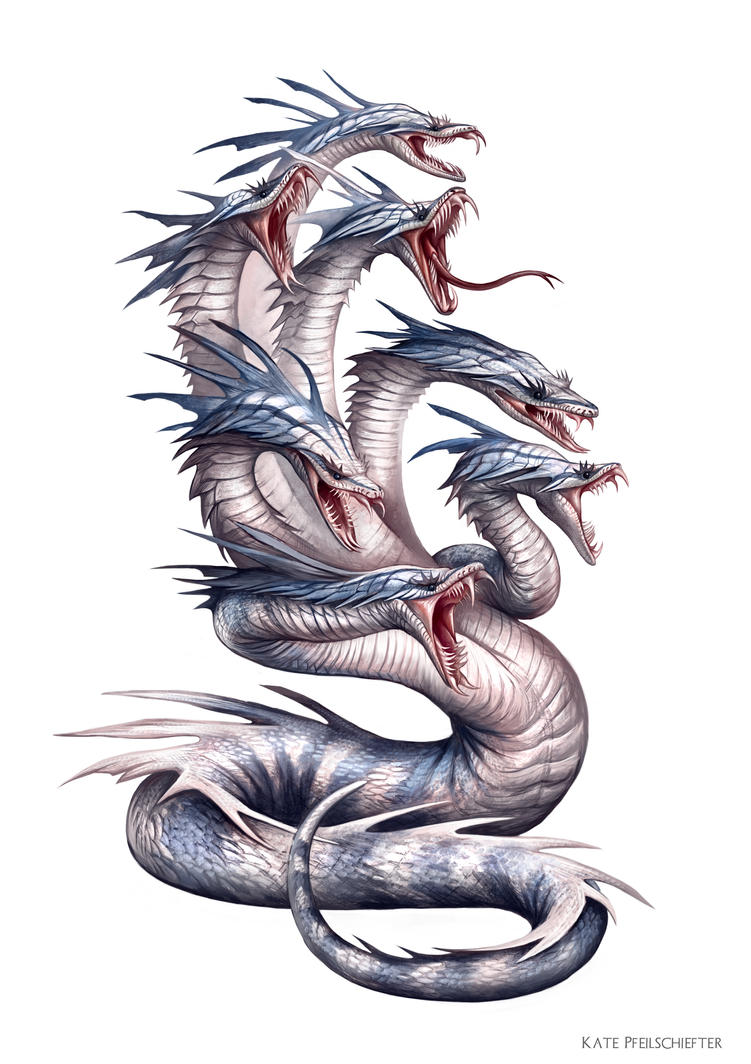 War Hydra by KatePfeilschiefter on DeviantArt Greek Mythology Hydra