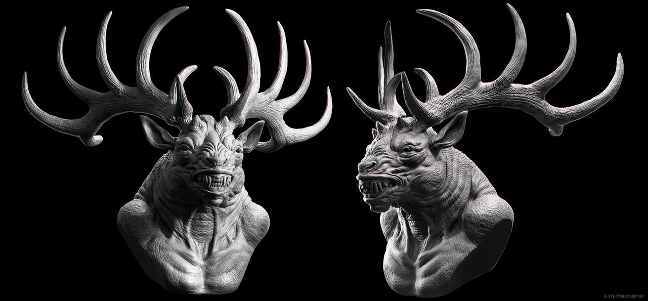 Deer God by KatePfeilschiefter