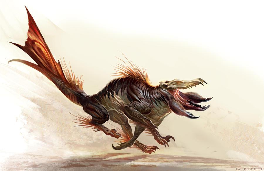 Caecuraptor Redux by KatePfeilschiefter