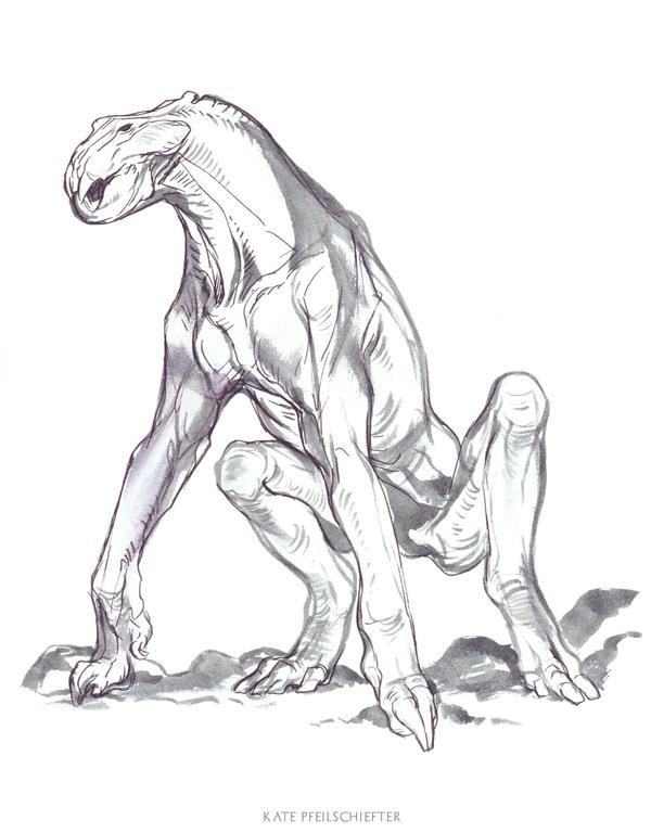 Long Legged Garbler by KatePfeilschiefter
