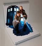 Doctor Who 3D Painting by PhilDiehl