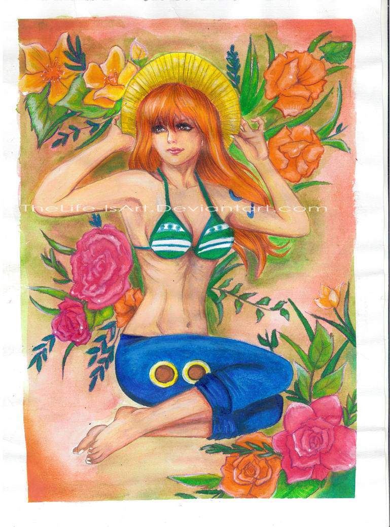 Nami one piece by TheLife-IsArt